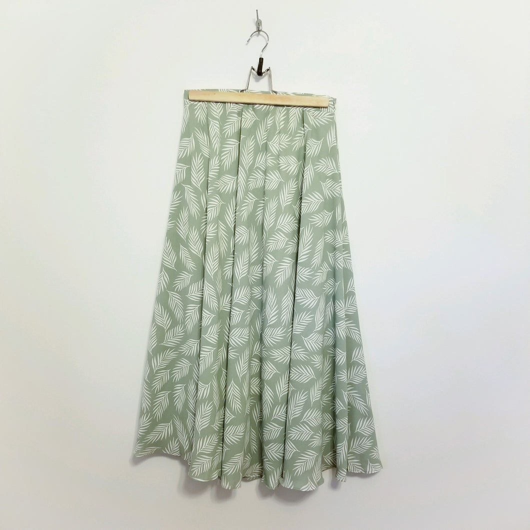 Palm leaf print skirt