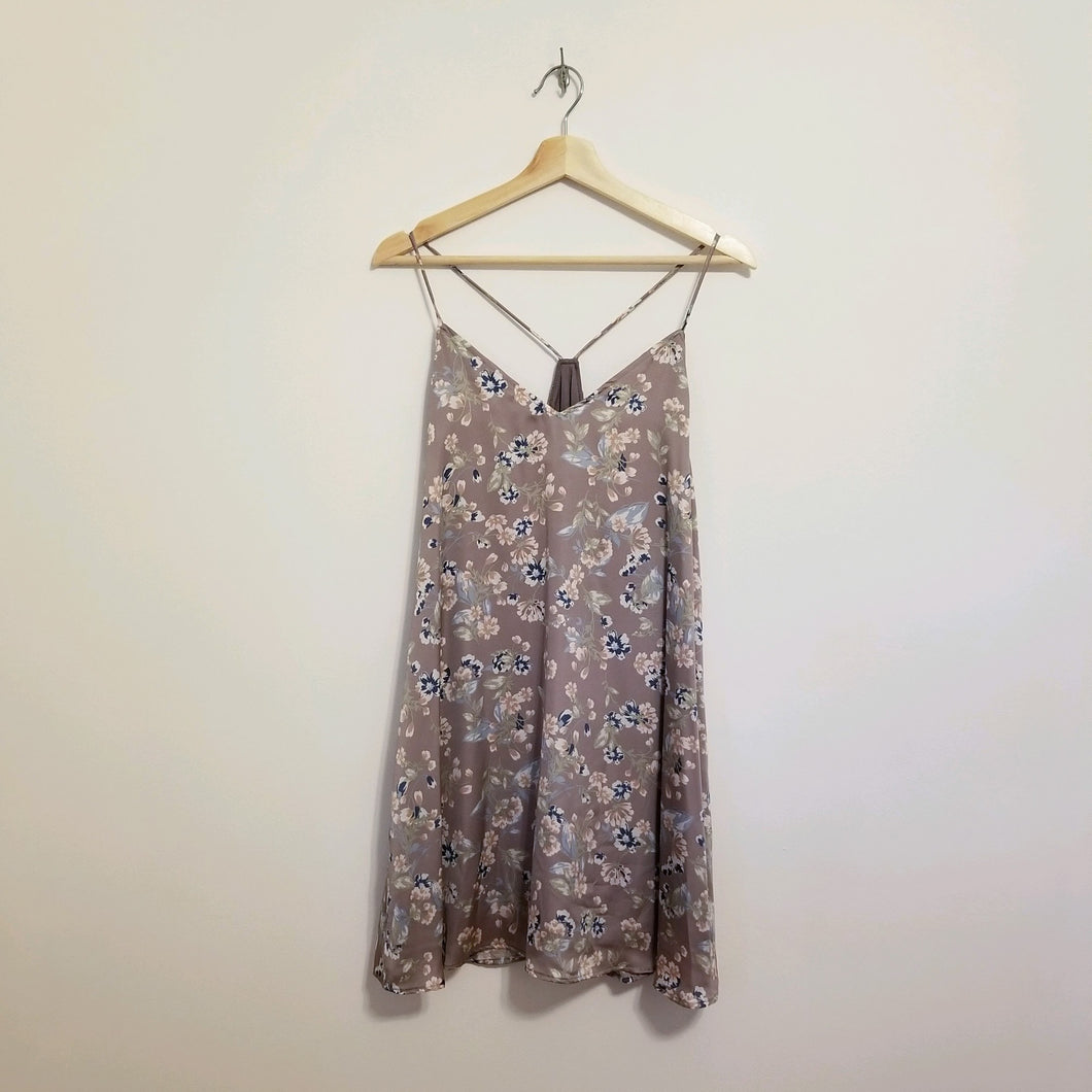 Lavender floral slip dress