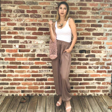 Load image into Gallery viewer, The Eloise - high waisted harem style joggers in mocha
