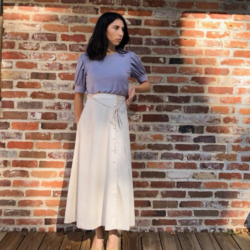 Riley Midi Skirt with button up side