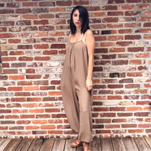 Load image into Gallery viewer, The Penelope ll- taupe sleeveless  jumper with adjustable straps