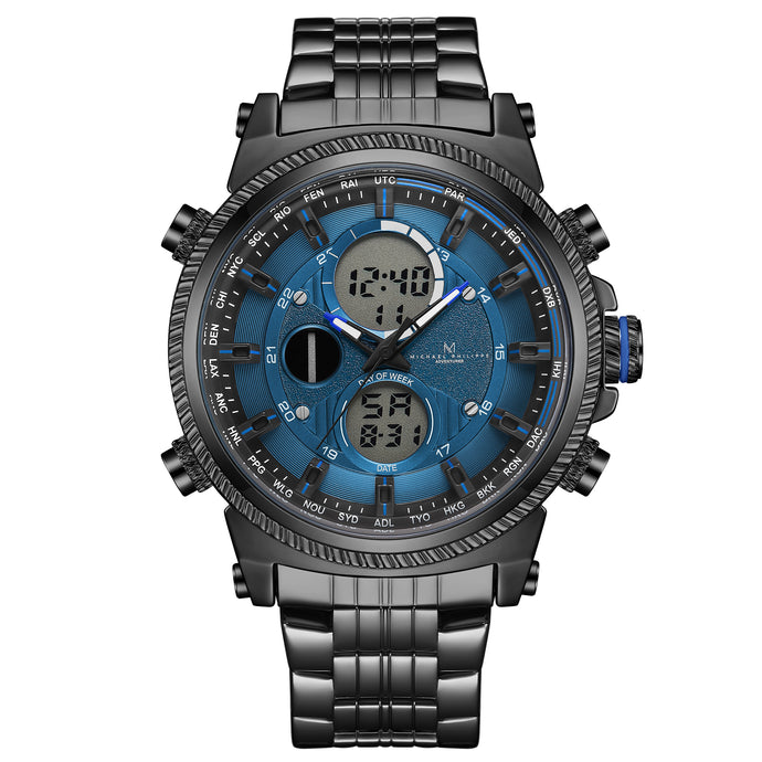 Adventurer | 48mm<small><br>Engineer Steel Link<br>Ocean Blue</b></small><center>