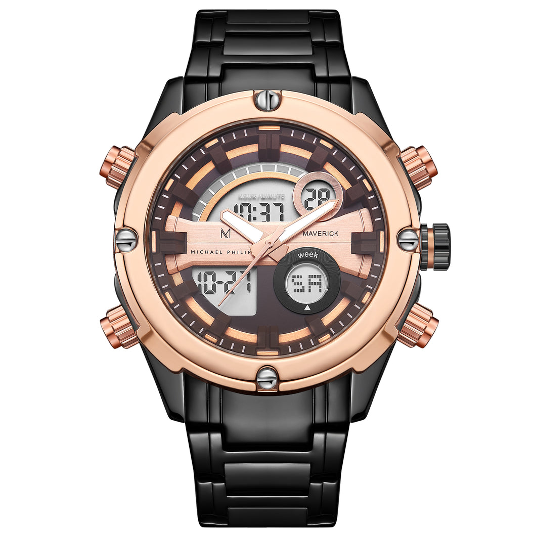 Maverick | 45mm <small> <br>President Steel Link<br> Sun Rose </br> </small> <center>