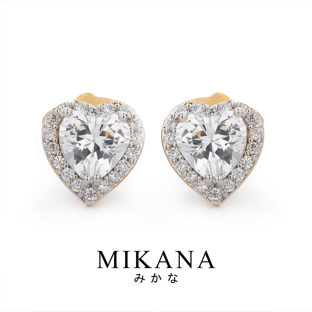 Mikana 18k Gold Plated Natsumi Stud Earrings Accessories For Women