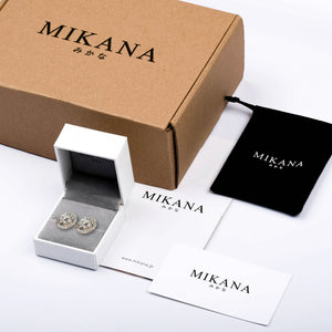 Mikana 18k Gold Plated Tomoe Ribbon Stud Earrings accessories for women