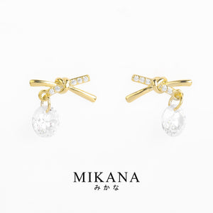 Mikana 18k Gold Plated Japana Stud Earrings accessories for women