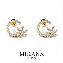 Load image into Gallery viewer, Mikana 18k Gold Plated Aina Stud Earrings accessories for women
