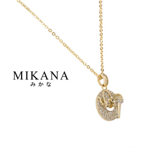 Mikana Hallyu K-drama 18k Gold Plated Reply 1988 Music Pendant Necklace Accessories For Women
