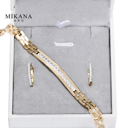 Mikana 18k Gold Plated Gold Posh Jewelry Set Accessories For Women