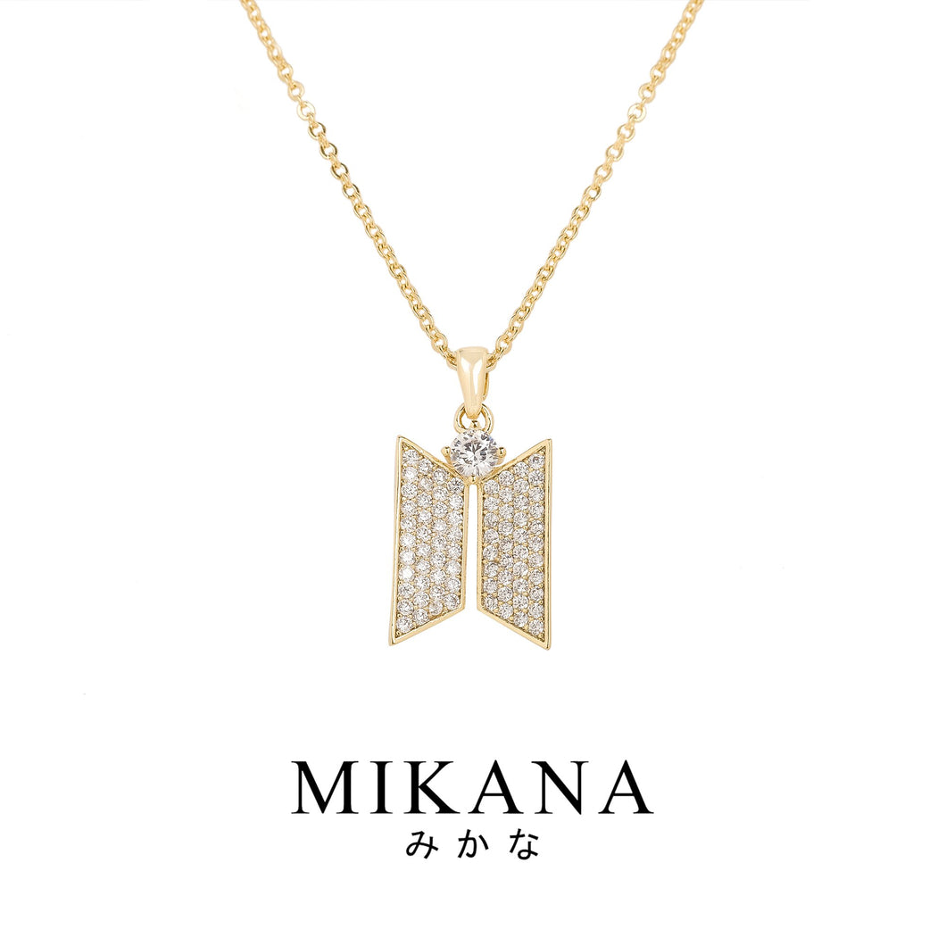 Mikana Hallyu K-Pop 18k Gold Plated BTS Army Pendant Necklace Accessories For Women