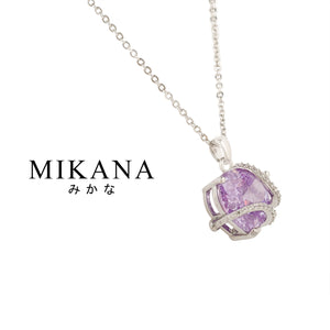 Mikana Hallyu K-Pop 14k White Gold Plated BTS Borahae Pendant Necklace Accessories For Women