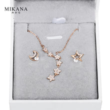 Load image into Gallery viewer, Mikana 18k Rose Gold Plated Wishing Star Jewelry Set Accessories For Women