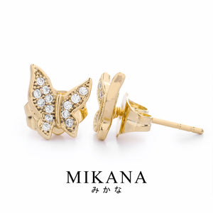 Mikana 18k Gold Plated Fuyuko Stud Earrings Accessories For Women