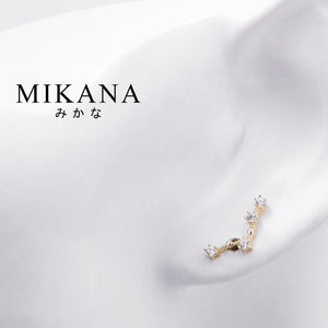 Mikana Constellation 18k Gold Plated Pisces Afurodite Stud Earrings Accessories For Women