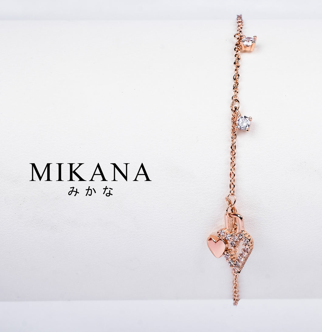 Mikana 18k Rose Gold Plated Aisaka Link Bracelet accessories for women
