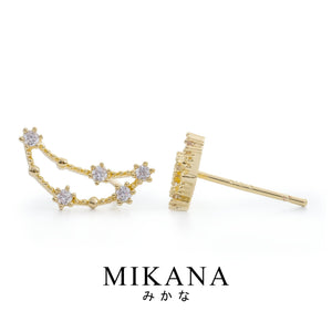Mikana Constellation 18k Gold Plated Capricorn Amarutea Stud Earrings Accessories For Women