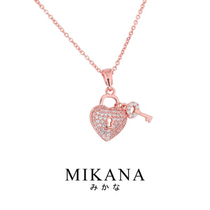 Mikana 18k Rose Gold Plated Chitoge Pendant Necklace Accessories For Women