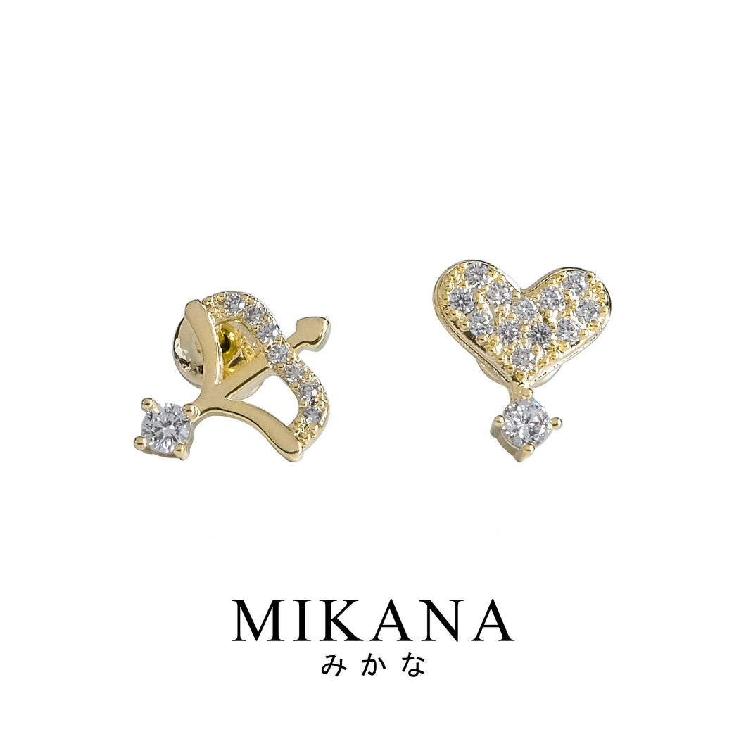 Mikana 18k Gold Plated Saiki Stud Earrings Accessories For Women