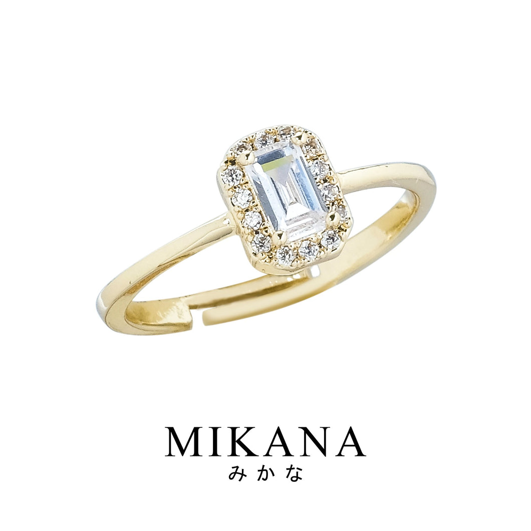 Mikana 18k Gold Plated Minabe Ring Accessories For Women