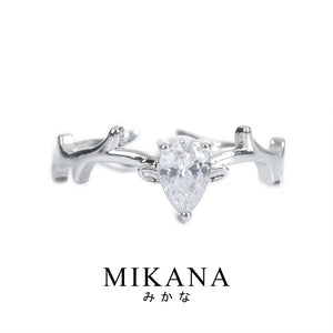 Mikana 14k White Gold Plated Unmei Ring Accessories For Women