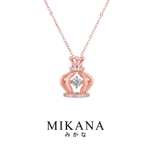 Mikana 18k Rose Gold Plated Oji Pendant Necklace Accessories For Women
