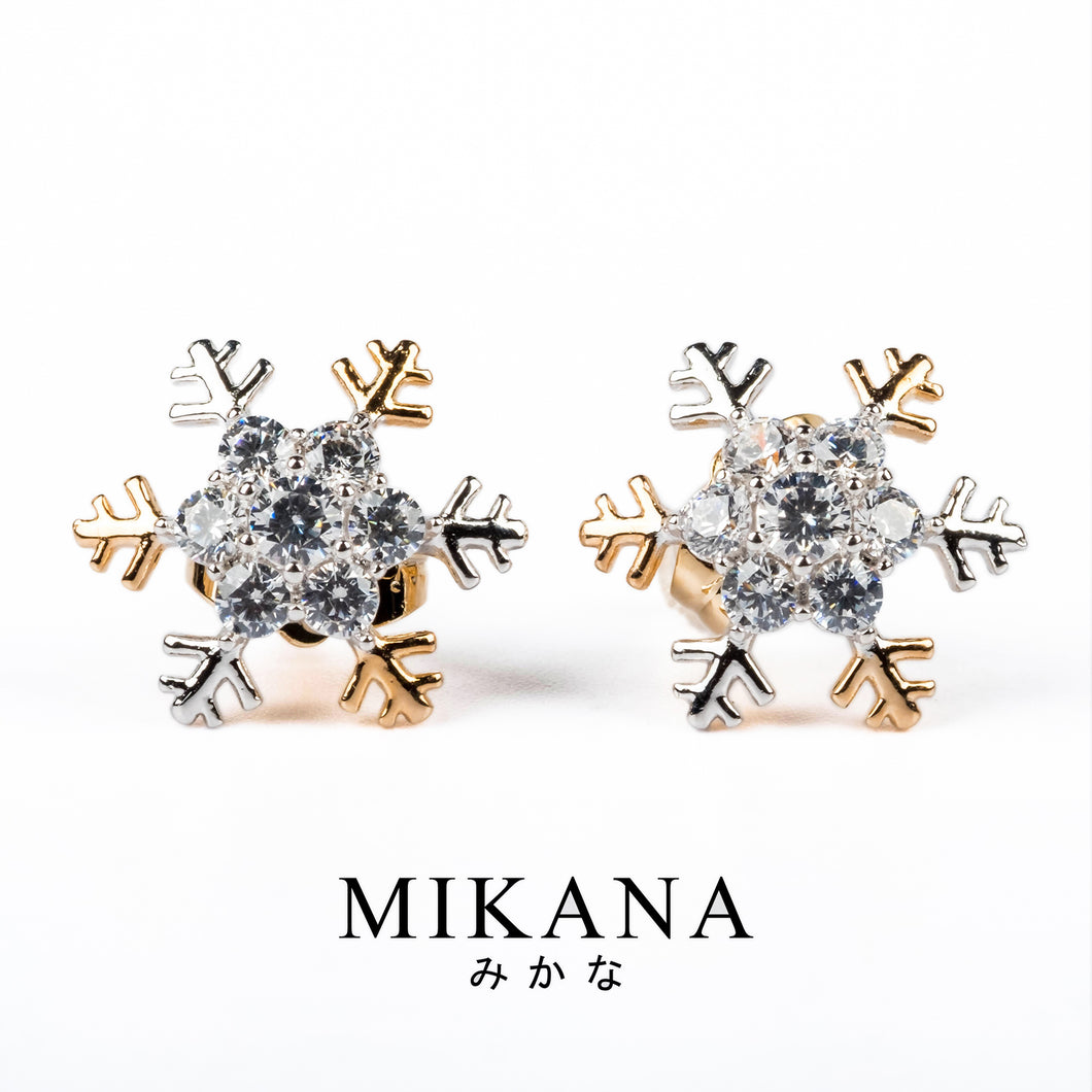 Mikana 18k Gold Plated Riwo Stud Earrings accessories for women