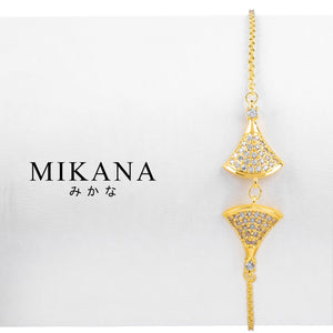 Mikana 18k Gold Plated Katsumi Link Bracelet accessories for women
