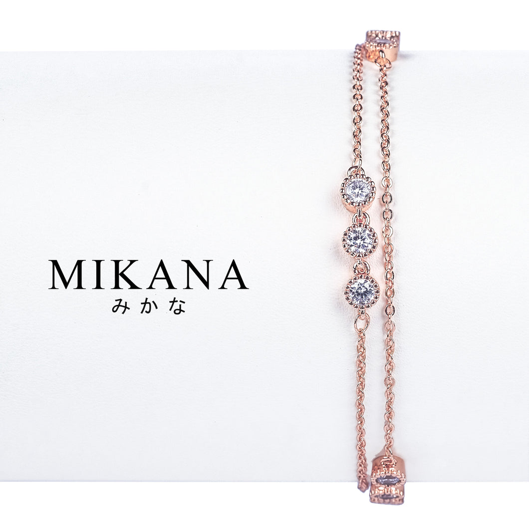 Mikana 18k Rose Gold Plated Touka Link Bracelet accessories for women