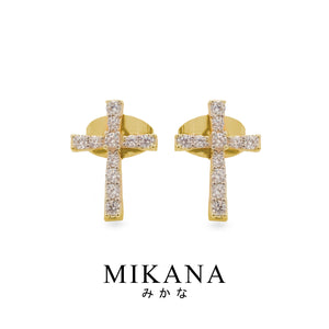 Mikana 18k Gold Plated Juujika Stud Earrings Accessories For Women