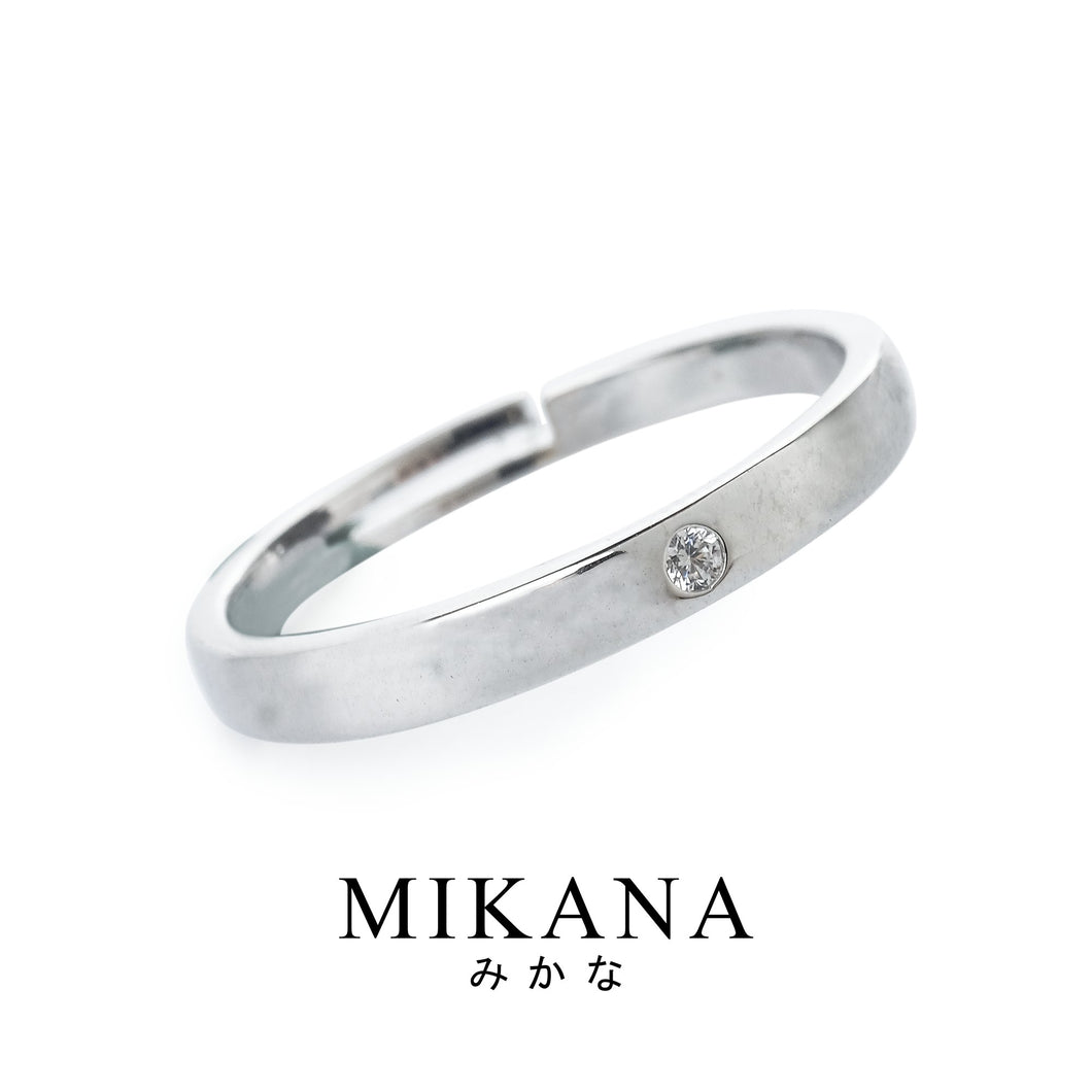 Mikana 14k White Gold Plated Watashi Ring Accessories For Men