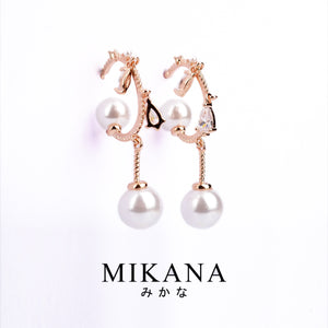 Mikana 18k Rose Gold Plated Hanami Drop Earrings accessories for women