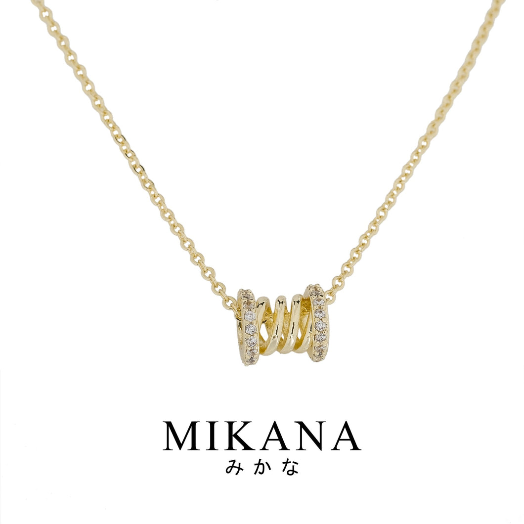 Mikana 18k Gold Plated Uwati Pendant Necklace Accessories For Women