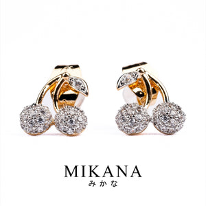 Mikana 18k Gold Plated Ichigo Stud Earrings accessories for women