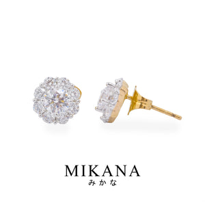 Mikana 18k Gold Plated Hoseki Stud Earrings Accessories For Women