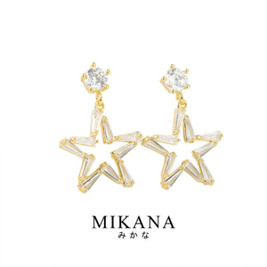 Mikana 18k Gold Plated Ryusei Drop Earrings accessories for women