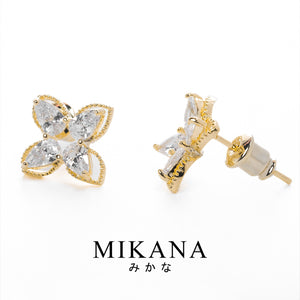 Mikana 18k Gold Plated Otome Stud Earrings accessories for women