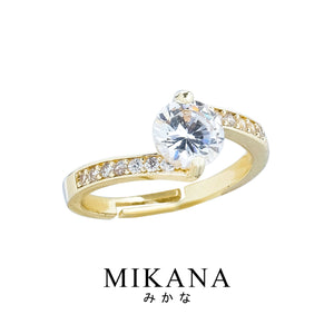 Mikana 18k Gold Plated Minushi Ring Accessories For Women
