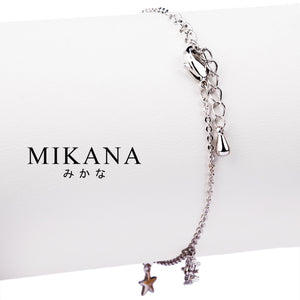 Mikana 14k White Gold Plated Kirisaki Link Bracelet accessories for women