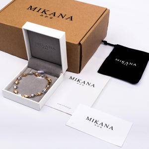 Mikana 18k Rose Gold Plated Rangiku Link Bracelet accessories for women
