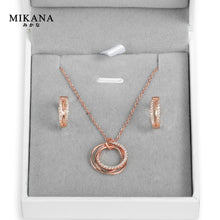 Load image into Gallery viewer, Mikana 18k Rose Gold Plated Circlet Jewelry Set accessories for women