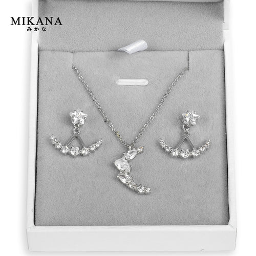 Mikana 14k White Gold Plated CLOY Moonlight Jewelry Set accessories for women
