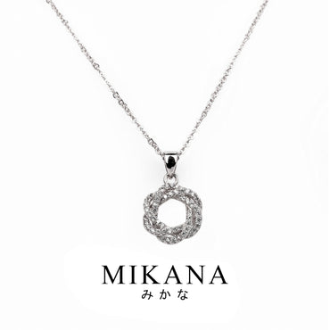 Mikana 14k White Gold Plated Eirin Pendant Necklace accessories for women