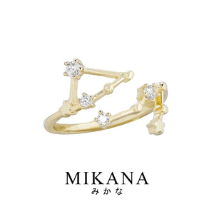 Mikana Constellation 18k Gold Plated Gemini Jewelry Set Accessories For Women
