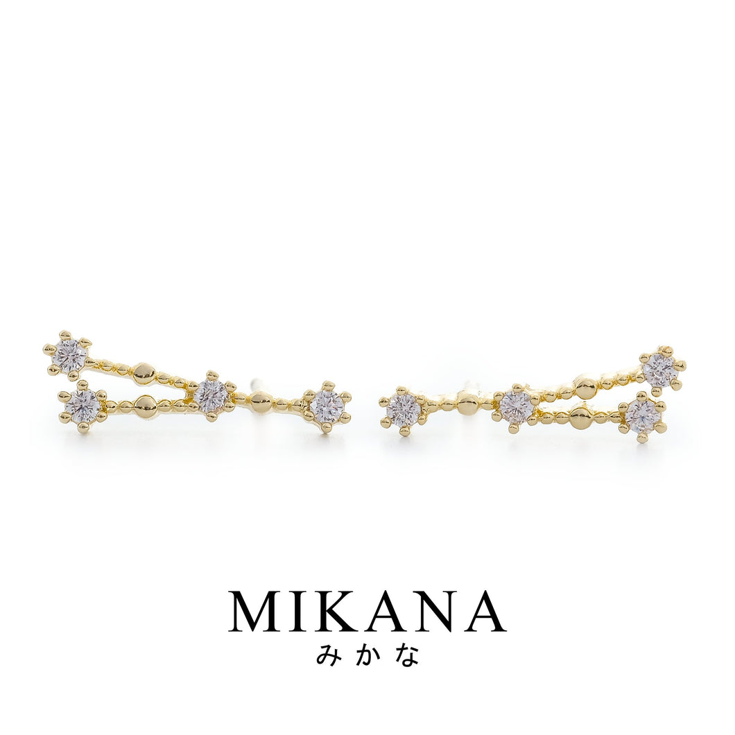 Mikana Constellation 18k Gold Plated Cancer Hidora Stud Earrings Accessories For Women