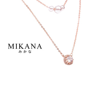 Mikana 18k Rose Gold Plated Hona Layered Pendant Necklace accessories for women