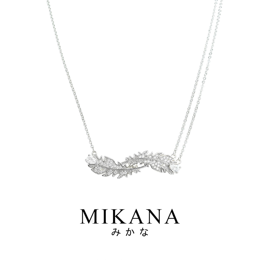 Mikana CLOY 14k White Gold Plated Ine Pendant Necklace accessories for women