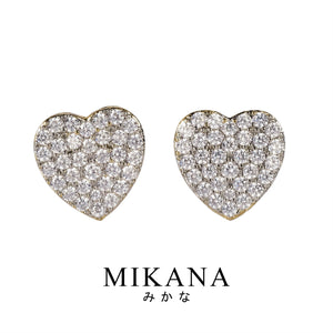 Mikana 18k Gold Plated Kaede Stud Earrings accessories for women