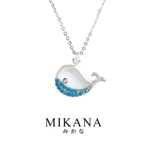 Mikana 14k White Gold Plated Kujira Pendant Necklace accessories for women