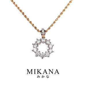 Mikana 18k Gold Plated Manami Pendant Necklace accessories for women