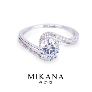 Mikana 14k White Gold Plated Mayumi Ring Accessories For Women